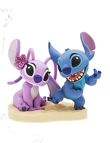 "Disney Lilo And Stitch 3"" Stitch With Girl Friend Angel Pvc Figure Figurine Wedding Cake Topper Collectible Toy"