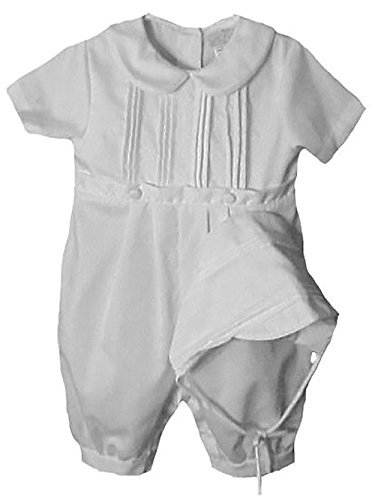 Baby Boys Pique Christening Baptism Knickers and Hat (12 Months)