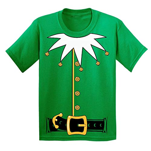Promotion & Beyond Santa's Helper Elf Christmas Costume Jumbo Print Youth T-Shirt, Youth L, Green
