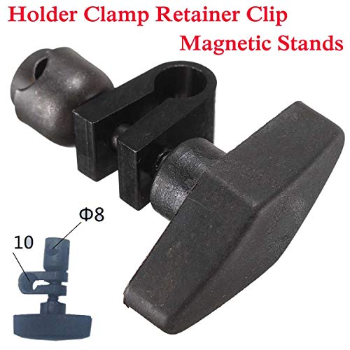 Ochoos 8-10mm Universal Holder Clamp Retainer Clip Magnetic Stands Dial Indicatior Guage Chuck Indicator Clamp ()