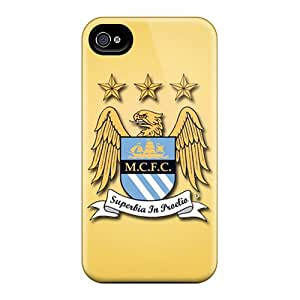 Protective Hard Phone Cover For Iphone 4/4s With Custom High-definition Manchester City Fc Skin JonBradica