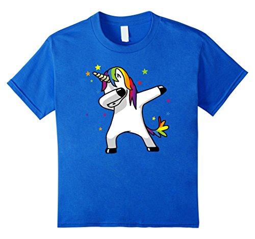 Kids Dabbing Unicorn Shirt Dab Hip Hop Funny Magic 12 Royal - Emoji Sunglasses With It Deal