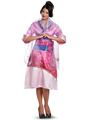 Disguise Women's Plus Size Mulan Deluxe Adult Costume, Pink, Large