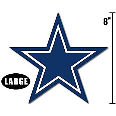Large Blue Star Dallas Cowboys Colors Sticker (Logo Big dak Fan ROMO): Arts, Crafts & Sewing