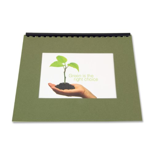 Cover Presentation Corner Square (GBC Recycled Paper Presentation Covers, 8.5 x 11 -Inches, Square Corners, Green, 20 Covers per Pack (25822))