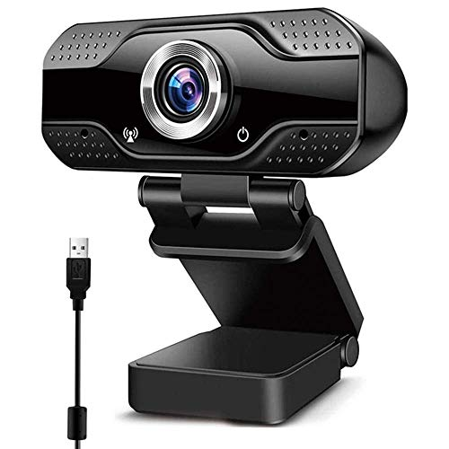Innoo Tech 1080P Full HD PC Webcam with Microphone, USB Plug and Play Web Camera for Video Calling, Online study, Conference, Recording, Gaming with Adjustable Base, Noise-Reducing Mic