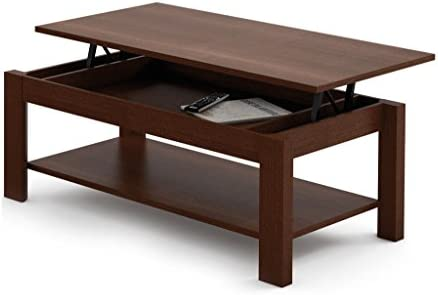 MESA DE CENTRO ELEVABLE HIGH QUALITY. WENGUE: Amazon.es: Hogar