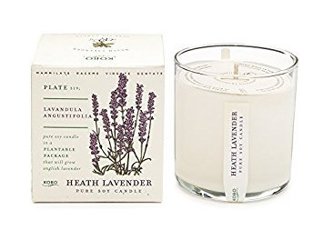 - Heath Lavender Soy Candle with Plantable Box