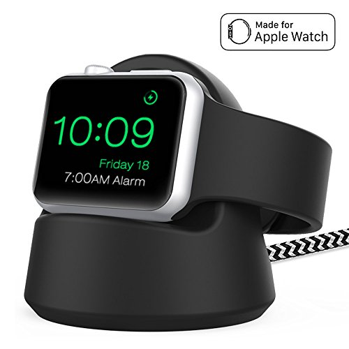 Reflying Compatible for Apple Watch Charger, Charging Stand with Magnetic Charger Module Compatible for Apple Watch Series 3 / Series 2 / Series 1 All 42mm / 38mm, 4 Feet - Black by Reflying