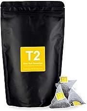 T2 Tea New York Breakfast Black Tea Bags in Resealable Foil Refill Bag, 60-Count