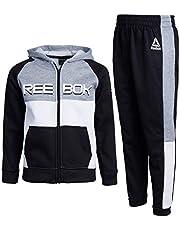 Reebok Boys' 2-Piece Athletic Fleece Tracksuit Set with Zip Up Jacket and Jog Pants (Toddler/Little/Big Boys)