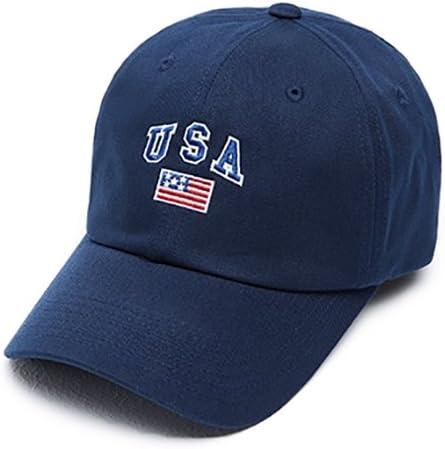 Hatrita-J Simple gorra negra usa sombrero borde bordado bandera ...