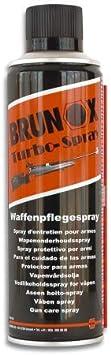Brunox Lubricante 300 ml Spray Ideal para Armas, escopetas, Pistolas, Mantenimiento, Airsoft, Caza, Fusil, Rifle 23031 + Portabotellas de regalo