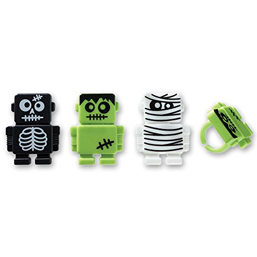 DecoPac Monsterbot Robot Cupcake Rings (12 Count) ()