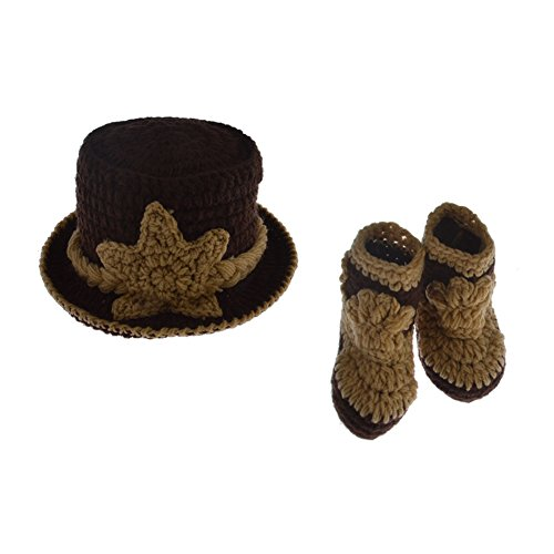 Cowboy Costume For Women Pants (SIKEMAI Newborn Photography Props Outfits - Baby Boy/Girl Knitted Hat Pants Cowboy Costume Set)