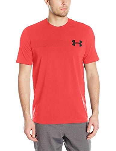 Under Armour Mens Chest Logo T-Shirt, Pomegranate Medium H /Black, Medium