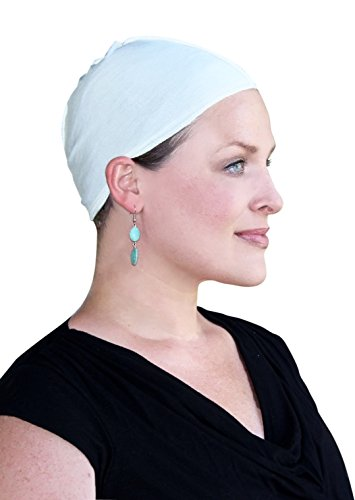 Bamboo Wig Cap and Soft Chemo Hat Liner for Hair Loss (Cream) -