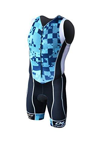 - DeSoto Men's Forza Tri Suit (Blue Print, Small)