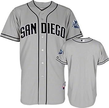 pretty nice 2d840 e988f Amazon.com : San Diego Padres Majestic Road Grey Authentic ...