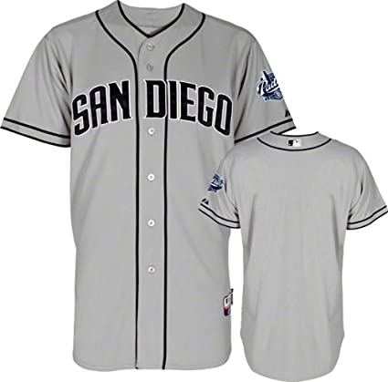 43906fe7e03 San Diego Padres MLB Majestic Men s Gray Authentic On-Field Cool Base Jersey  (44