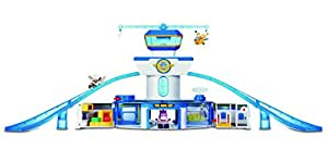 """Super Wings World Airport Toy Playset  Includes Jett and Donnie Figures  2"""" Transform-a-Bot Scale"""