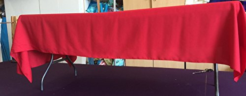 Bright Red Gabardine Tablecloth 60 x 102 Birthday Wedding for sale  Delivered anywhere in USA