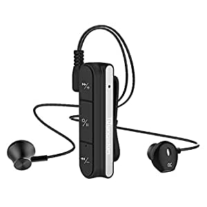 Wireless Magnetic Bluetooth CSR Sports Earphones Universal In-Ear Deep Bass Stereo Cell Phone Headsets Earphone For iPhone Android Smartphones by PENATE (Black)