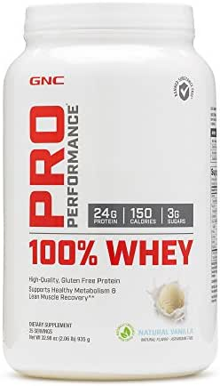 GNC Pro Performance 100 Whey Protein - Natural Vanilla 2.06 lbs.