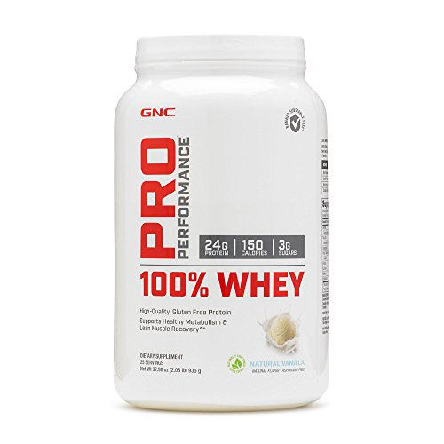 GNC Pro Performance 100 Whey Protein - Natural Vanilla 2.06 lbs.