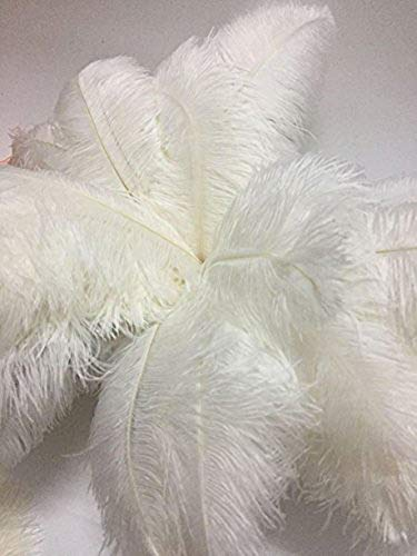 CENFRY 60pcs Ostrich Feathers 16-18inch Plumes for Wedding Centerpieces Home Decoration (White) by CENFRY (Image #1)