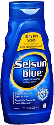 Selsun Blue Dandruff Shampoo Itchy Dry Scalp 11 oz (Pack ...