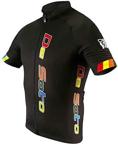 De Soto Sport Men s Skin Cooler SS Bike Jersey (BJ2) - Black Arcenciel   Size  Small 3a2c40161