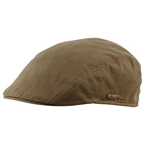 Sterkowski Men's Flat Cap Breathable Pure Emerizing Cotton US 7 Olive
