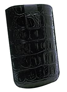 Phonix CROCOXB Estuche de extracción Negro funda para teléfono móvil - fundas para teléfonos móviles (Estuche de extracción, Universal, Negro)