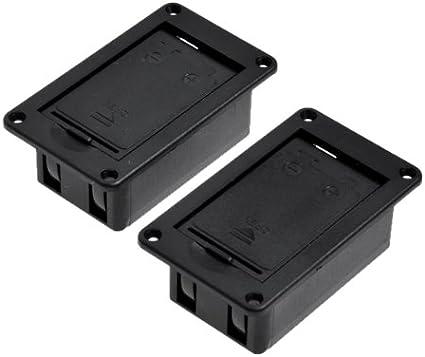 2 pcs 9 V batería titular caso caja base para Active para guitarra o bajo no Terminal: Amazon.es: Instrumentos musicales