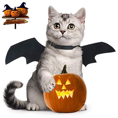 Yu-Xiang Cat Halloween Bat Wings Pet Costume Pet Apparel for Cat Small Dog, Black (Black)