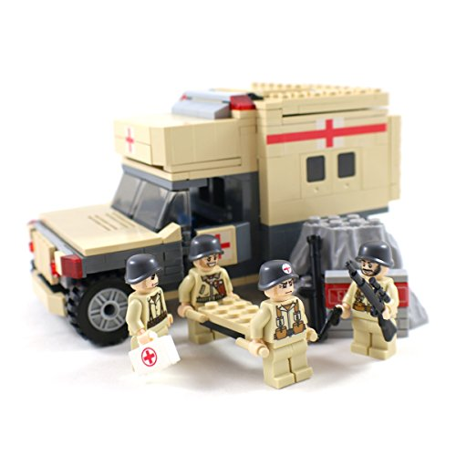 Military-Field-Ambulance-and-Army-Medic-Minifigures-Building-Block-Toy