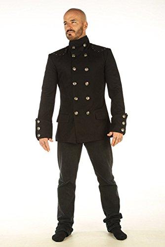 Men's Steampunk Military Jacket Top Mandarin Collar Jacket MSP 4