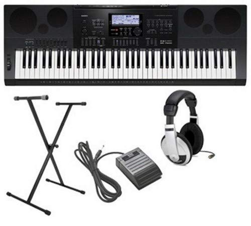 Casio CWK7600 4 pc Ultra-Premium Keyboard Package With Headphones, Stand, Sustain Pedal and Power Supply ()