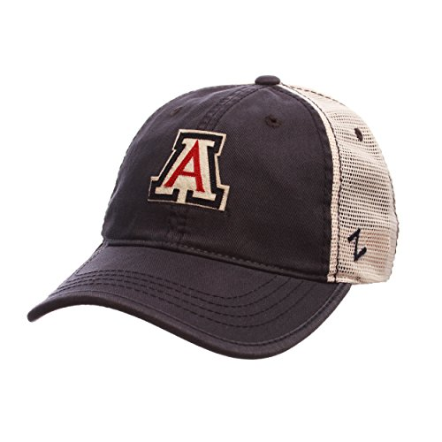 Wildcats Hat Arizona (NCAA Arizona Wildcats Men's Summertime Hat, Stone/Navy, Adjustable)