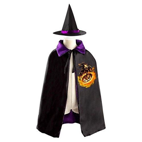 Halloween Wizard Hat Costume Children Cloak Cape Cosplay For Kids Ghost Rider