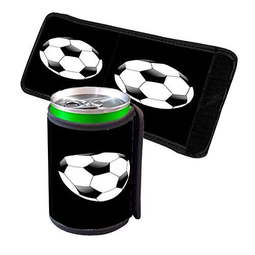 Soccer Ball - Insulated Neoprene Beverage Can Beer Bottle Drink Cooler ()