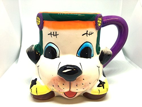 Cute Cool Gift For Kids 3D Novelty Coffee Mug Cup Beer Tea Puppy Dog Pup Dalmation Drving A Car Character Hand Crafted Painted Gift Boxed Adorable Farm Zoo Animal Cartoon (Puppy Dog Coffee Mug)