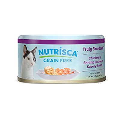 Nutrisca Grain Free Cat Food, Chicken & Shrimp, 2.7 Ounce (Pack Of 24)