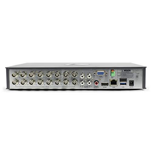 Swann SWDVK-1645912-US 16-Channel, 12-Camera Indoor/Outdoor Wired 2TB DVR Surveillance System Black/white