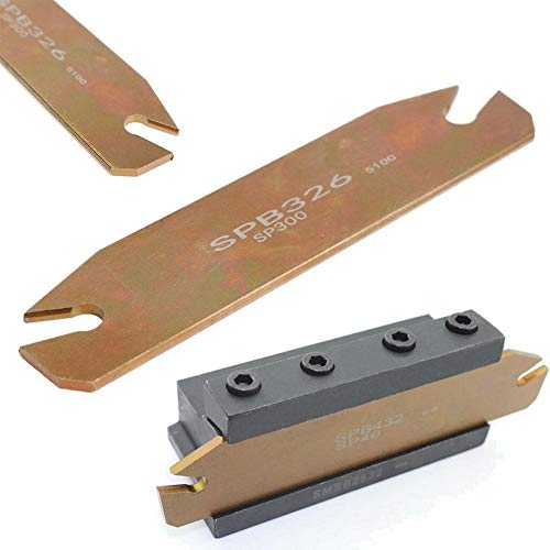 Blueyouth Grooving Cut-Off Plate,SPB26-3mm Parting Grooving Cut-Off Cutter Plate Holder for SP300 Insert
