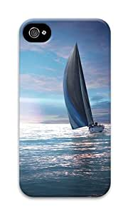 iPhone 4 Case,iPhone 4S Case,VUTTOO Stylish Sailing Boat Hd Hard Case For Apple iPhone 4/4S - PC 3D