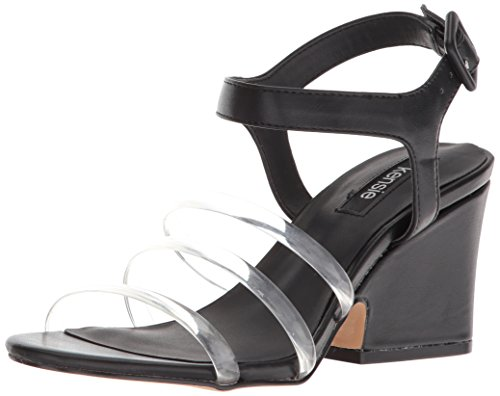 kensie Women's Ebony Heeled Sandal Black rVrx5if2