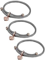 CIUNOFOR Charm Bracelet for Women Girls Italian Style Evil Eye CZ Bracelet with Adjustable 10.24 Inches Chain