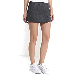 NIKE Women's Dri-Fit Nikecourt Baseline Tennis Skirt-Gray